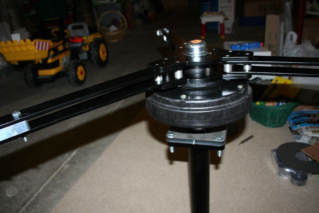 Here Is The Image Of F P Smart Drive Motor Mounted On A Trailer Axle Spindle With Arms To Connect Vanes